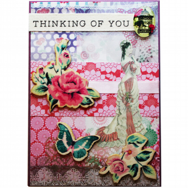 Thinking Of You Floral A6 Card