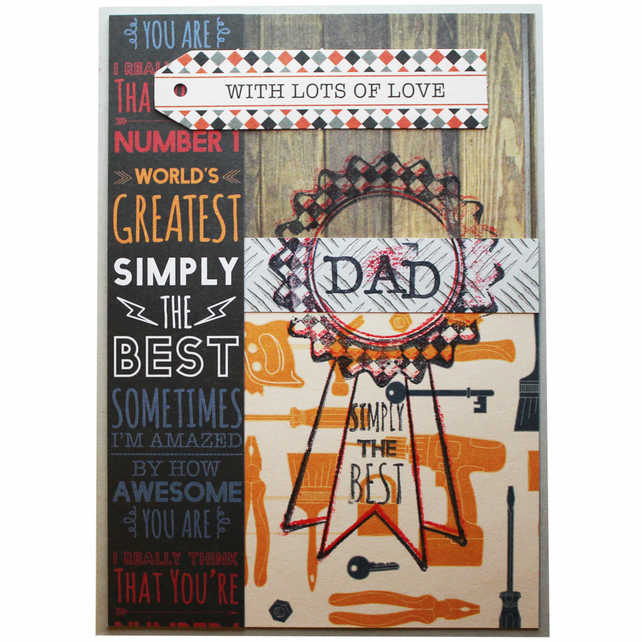 Simply The Best Dad A6 Father's Day Card