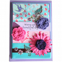 Wishing You a Beautiful Day on Your Birthday A6 Card