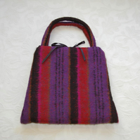 SALE plum stripe bag