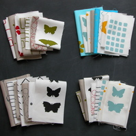 mixed sample pack of screen printed fabrics