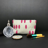 linen standing purse - blush pebble