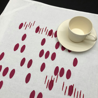 linen blend tea towel - blush pebble