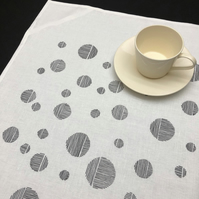 linen blend tea towel - stone moon