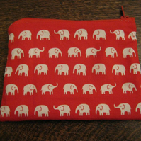 Lovely Red & White Elephant Purse! Free P & P!