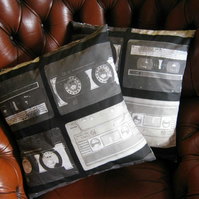 A pair of Cassette Tape Cushion Covers!
