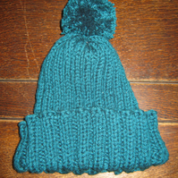 Great Green Knitted Bobble Hat!