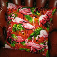 Super Retro Flamingo Cushion Cover!