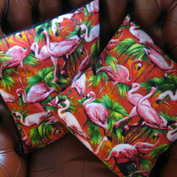 Pair of pretty retro flamingo cushion covers!