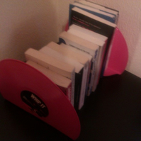 "Super Pink 12"" Vinyl Whip It Bookends."