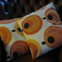 Pair of Retro Cushion Covers!