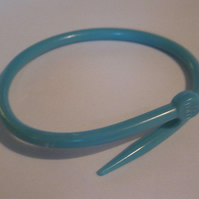 Blue 5mm Knitting Needle Bracelet.