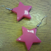 Pink Star Earrings.