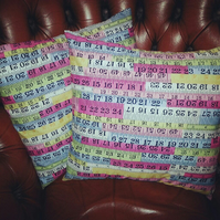 Pair of super tape measure ruler cushions covers