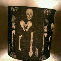 'The Human Body' Diagram Glow In The Dark Upright 30cm Drum Lampshade