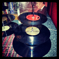 An Awesome Three Tier Vinyl Record Cake Stand!