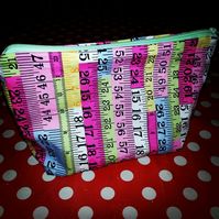 Tape Measure Ruler Wash Bag.