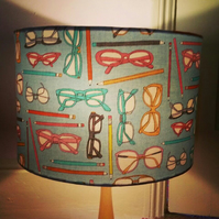 Retro Glasses and Pencils 30cm drum lampshade!