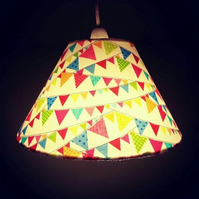 Pretty Summery Bunting Coolie Cone Medium Lampshade