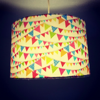 Super Summery Bunting Lampshade.