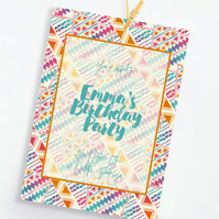 Custom invitation, for birthdays, parties, engagements & made for any event