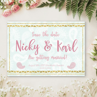 Save the date card customised for your wedding printable