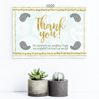 Thank you card customised printable for your wedding or event