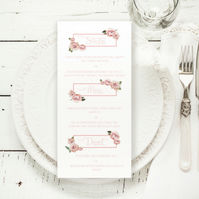 Custom menu for weddings & events, printable