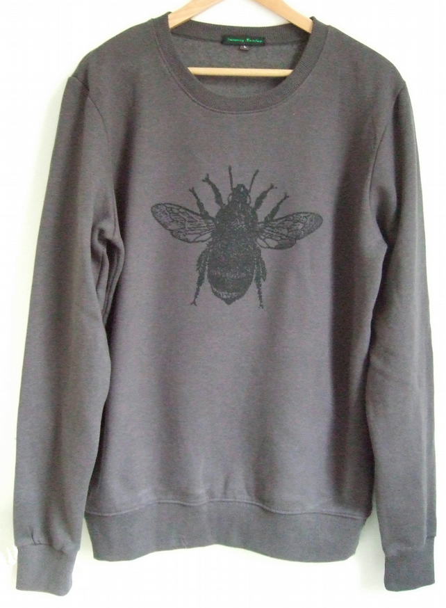 Bee Mens dark grey printed sweatshirt