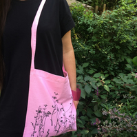 Meadow cotton tote bag bright pink
