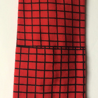 Squares red and black headband