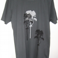 3 Trees Mens organic Dark Grey Fair Wear  slim fit T shirt size large