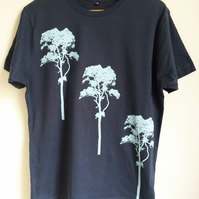 3 Trees Mens Denim Blue cotton Fair Wear T shirt