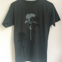 3 Trees Mens Dark Grey Fair Wear T shirt
