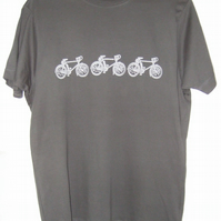3 Racing Bikes Mens charcoal grey T shirt
