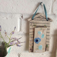Ceramic Beach Hut Wall Hanging
