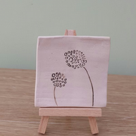 Dandelion Mini Ceramic Art on Easel