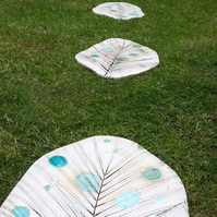 Ceramic Leaf Stepping Stones