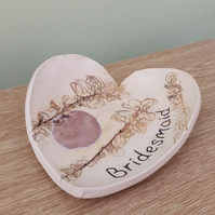 Bridesmaid Ceramic Heart Dish