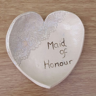 Maid of Honour Ceramic Heart Dish