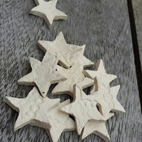 10 Ceramic Star Charms for Crafts