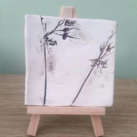 Wild Flowers Ceramic Tile with easel