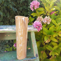 Tall Natural Birch Ceramic Vase