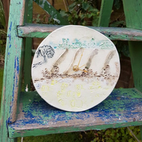 Round Ceramic Countryside Clock