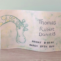 Personalised Ceramic Curve Freestanding Art