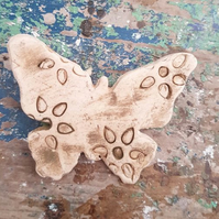 Natural Flowers Ceramic Butterfly Brooch