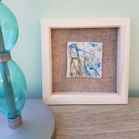 Ceramic Landscape Tile Hessian Burlap Picture