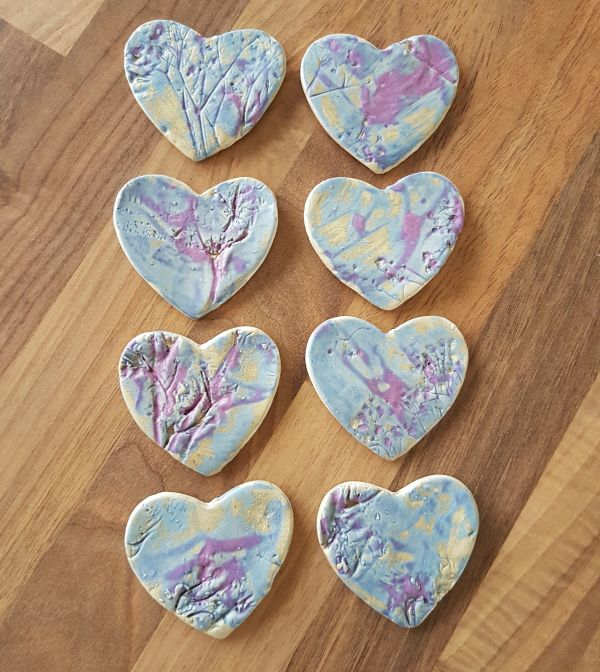 Tutti Frutti Ceramic Heart Brooch