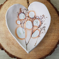 Raindrops in the Meadow Ceramic Heart Dish