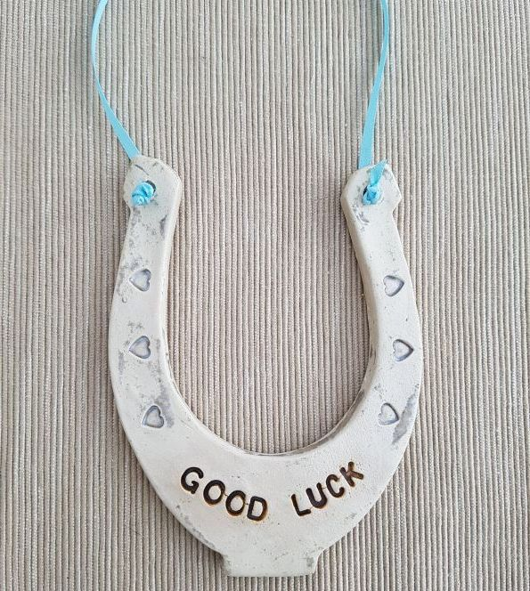 Good Luck Ceramic Horseshoe